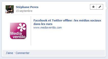 Facebook timeline statut F8, les nouveautés 2011