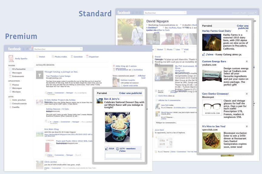 Facebook publicités standard et premium   webchronique Créer une publicité Facebook