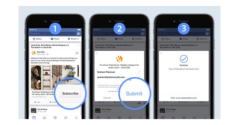 9 publicités formulaire facebook - webchronique