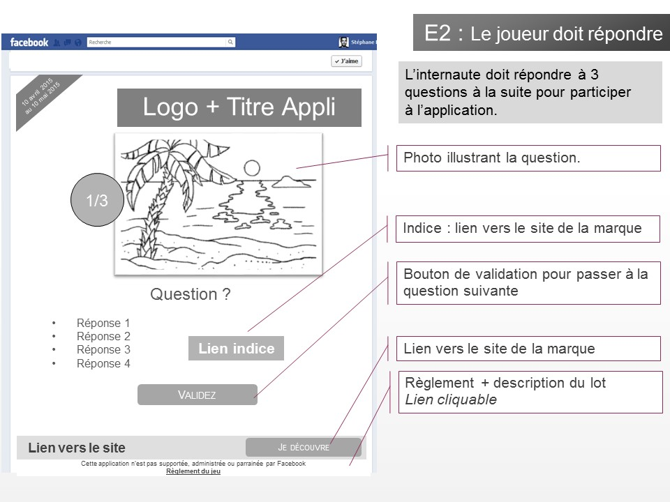 Application jeu-concours Facebook - img n°(2) - npcmedia