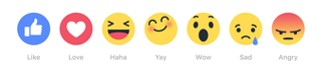 3 Facebook reactions - webchronique