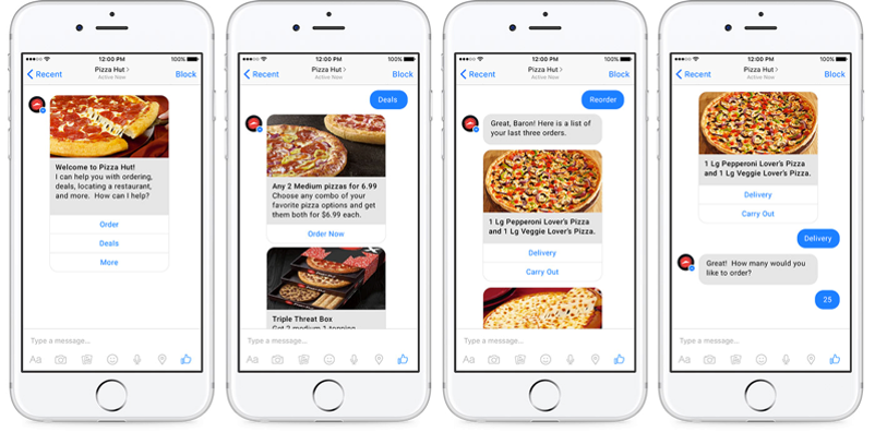 6 pizza hut chatbot twitter et facebook - webchronique