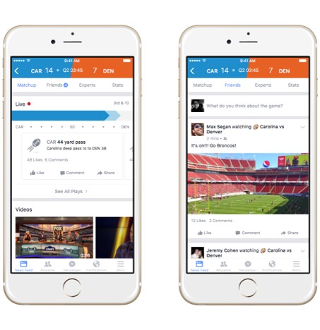 2 facebook sports stadium - webchronique