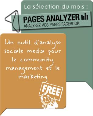 Vous êtes community manager ? Vous êtes chef de produit Web ? Vous êtes un particulier (personnalité, freelance et autre ...) ou vous aimez tout simplement le social media. Alors aujourd'hui, vous allez être content car une application Web vient de sortir pour analyser votre/vos page(s) Facebook afin de générer des données d'analyse pertinentes ...  Lire la suite ...
